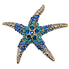 Women's Fashion Alloy/Rhinestone Brooches Chic Pin Party/Daily/Casual Starfish Shape Jewelry Accessory 1pc