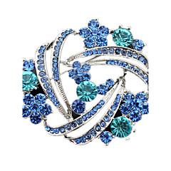 여성 브로치 크리스탈 모조 다이아몬드 보석류 제품 결혼식 파티 일상 캐쥬얼