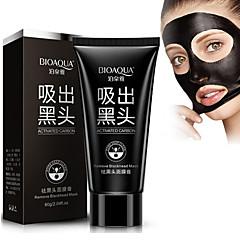 carvão ativado creme branquear sucção cuidados para o rosto máscara preta nariz removedor de cravo descascando o tratamento da acne cabeça