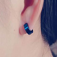 Beszúrós fülbevalók Titanium Acél Arany Fekete Ezüst Kék Ékszerek Mert Napi Hétköznapi 1db