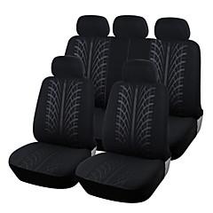 autoyouth nytt stoff med løkker fulle bilsete dekker universell passer de fleste merke biler setetrekk svart bil sete protector