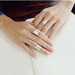 Anéis Mulheres Sem Pedra Liga Liga Tamanho Único Como na Imagem