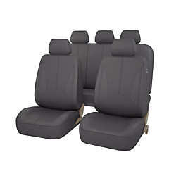 pu leer universele auto stoelhoezen zwart grijs beige kleur met 3 rits