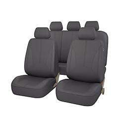 pu lær universell auto bilsete dekker svart grå beige farge med tre glidelås