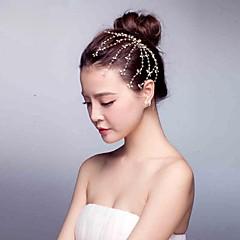 Femme Perle Alliage Casque-Mariage Occasion spéciale Décontracté Serre-tête Fleurs Couronnes Accessoires pour Cheveux 1 Pièce