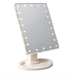 Lady's Makeup Cosmetic LED Mirror 22 LED Lights Lamps Folding Portable Compact Pocket Mirror 2016 Hot Sale High Quality