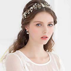 Women's Rhinestone / Alloy / Imitation Pearl Headpiece-Wedding / Special OccasionTiaras / Headbands / Flowers / Wreaths / Head Chain /