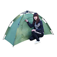 1 person Shelter & Tarp Tent Double Automatic Tent One Room Camping Tent FiberglassWaterproof Ultraviolet Resistant Quick Dry Rain-Proof