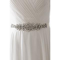 Saten Vjenčanje Zabava / večer Svakodnevica Pojas-Perlice Cirkonici Žene 98 ½ u (250cm) Perlice Cirkonici