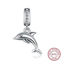 Europäische und amerikanische populäre Art und Weise Schmuck 925 Sterling Silber Zirkon Anhänger hängendem Armband - die Delphinform