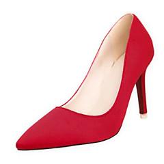 נשים-עקבים-PU-נוחות-שחור ירוק סגול אדום אפור-יומיומי-עקב סטילטו עקב קריסטל