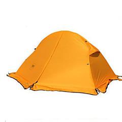 """1 אדם אוהל כפול אוהל מתקפל חדר אחד קמפינג אוהל מעל 3000 מ""""משמור על חום הגוף עמיד ללחות מאוורר היטב נייד ייבוש מהיר עמיד מוגן מגשם נשימה"""