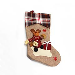 Božićne igračke Poklon vrećice Blagdanske potrpštine 3Pcs Božić Tekstil Deva