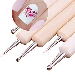 5pcs 2 mod de lemn punctarea stilou marbleizing instrument de unghii dot instrumente puncționare