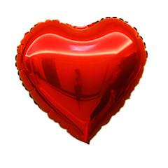Μπαλόνια Γιορτινά προϊόντα Σχήμα Καρδία Αλουμίνιο Ασημί Για αγόρια Για κορίτσια 5 ως 7 χρονών