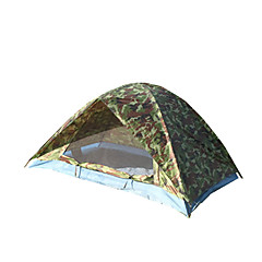 2 persons Tent Double One Room Camping Tent <1000mm Fiberglass OxfordWaterproof Breathability Dust Proof Anti-Insect Windproof