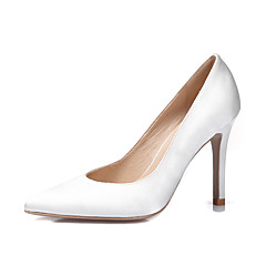 Egyéb-Stiletto-Női cipő-Magassarkúak-Esküvői Ruha Party és Estélyi-Selyem-Fekete Kék Fehér Világos rózsaszín