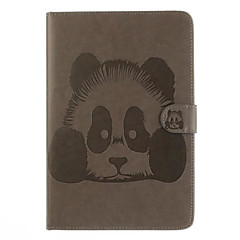 For Card Holder with Stand Flip Case Full Body Case Panda Hard PU Leather for Apple iPad Air 2 iPad Air