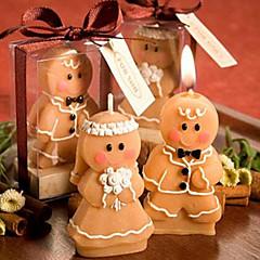 Los favores de la vela-2 Pedazo / Set Velas Sin personalizar Chocolate