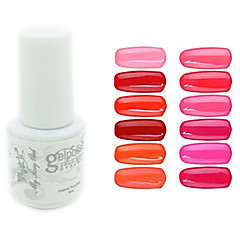 yemannvyou®sequins de color de uñas de gel UV no.1-12 polaco (5 ml, colores surtidos)