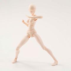 (6) 스타일의 바디 찬 몸 군 여성 1PCS 피부색 15cm의 FIGMA 반다이 PVC 액션 그림 FIGMA 창백한