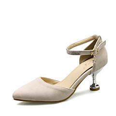 Sandálias-D'Orsay Sapatos clube-Salto Sabrina-Preto Rosa Bege-Courino-Casamento Social Festas & Noite