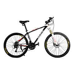 Mountain Bike Cycling 21 Speed 26 Inch/700CC 44mm Unisex Adult SHIMANO Oil Disc Brake Suspension Fork Carbon Aluminium Alloy Carbon Black