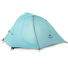 Naturehike® 2人 テント ダブル 1つのルーム キャンプテント >3000mm ナイロン 防風性-ハイキング キャンピング-スカイブルー