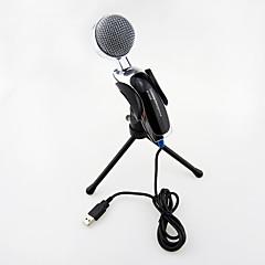2017 nový usb užitečné horké pevné vysoce kvalitní stereo kondenzátorový mikrofon s držákem klipem pro chatování karaoke přenosný počítač