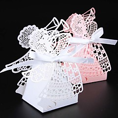50pcs/lots Laser cut angel wedding box souvenirs baby shower candy box gift box