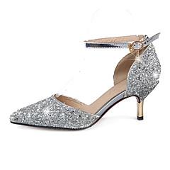Sandály-Syntetika-JinéStříbrná Zlatá-Svatba Šaty Party-Vysoký