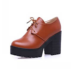 Women's Heels Spring Summer Fall Winter Comfort Novelty Synthetic Leatherette PU Office & Career Casual Party & EveningChunky Heel Block