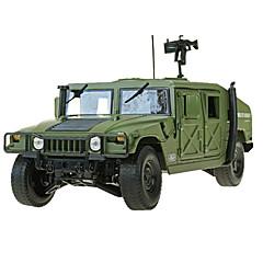 Véhicule Militaire Jouets Jouets de voiture 1:18 Métal ABS Plastique Vert Maquette & Jeu de Construction