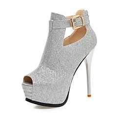 נשים-עקבים-סינטתי-אחר-שחור אדום זהב כסף-חתונה משרד ועבודה מסיבה וערב שמלה-עקב סטילטו