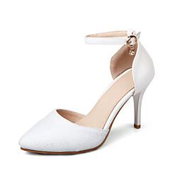 Sandálias-Outro D'Orsay Sapatos clube-Salto Agulha-Preto Rosa Branco-Linho-Casamento Social Festas & Noite