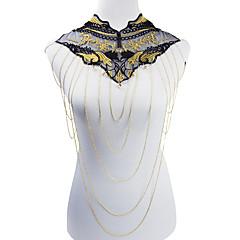 Tělové ozdoby/Tělo Chain / Belly Chain Náhrdelník na břicho Slitina Krajka Flower Shape Módní Bohemia Style Zlatá 1ks