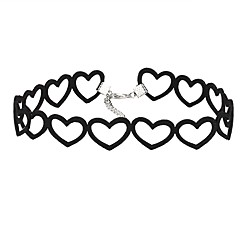 Necklace Europe Heart Collar Fashion Short Black Necklace Choker Necklace
