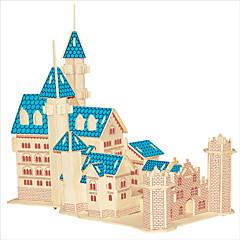 Jigsaw Puzzle Fából készült építőjátékok Építőkockák DIY játékok Népszerű épület Kínai építészet Ház 1 Fa Kristály Építő játékok