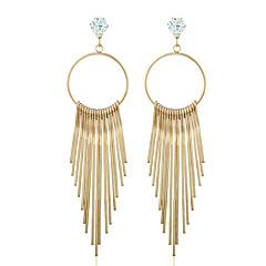 עגילים משתלשלים יהלום זירקון ציפוי זהב זהב תכשיטים ל חתונה Party קזו'אל 1 זוג