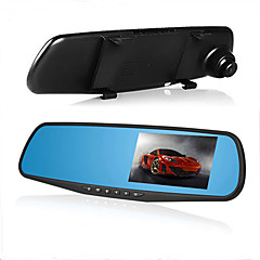 bakspejl bil dvr 4,3 tommer 1080p bil videokamera dobbelt linse video registratortilfredshed g-sensor hd dash cam bil kamera optager