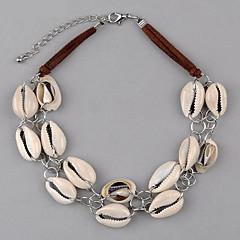 女性 ペンダントネックレス 円形 レザー 貝殻 シェル 欧米の 多層式 欧風 ジュエリー 用途 誕生日 日常