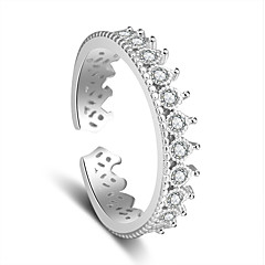 Ring Wedding Party Special Occasion Jewelry Platinum Plated Ring 1pc,Adjustable Silver