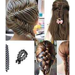 Women French Hair Braiding Tool Roller With Magic Hair Twist Styling Bun Make for Wedding Party Length 20cm