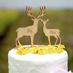 Figurky na svatební dort Nepřizpůsobeno Klasický pár Srdce Akryl tvrdý plast Lepenkový papír Svatba Výročí Párty pro nevěstu Žlutá