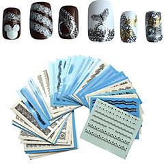 1 set 50pcs Adesivos para Manicure Artística Decalques de transferência de água maquiagem Cosméticos Designs para Manicure