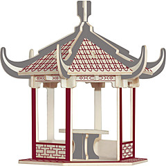 פאזלים פאזלים מעץ אבני בניין צעצועי DIY בניין מפורסם ארכיטקטורה סינית בית 1 עץ קריסטל צעצוע בניה ודגם