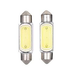 2pcs 36mm המכונית 2W נורת LED הובילה מכונת מנורת לוחית רישוי קריאה צבע מנורה לבן