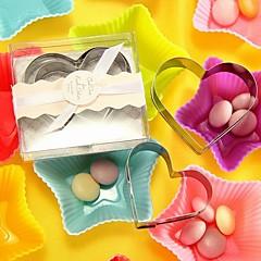 10box/lot - Heart Cookie Cutter Set (2pcs/box) Beter Gifts® Wedding Inspirations 7.5 x 6.5 x 2 cm/box