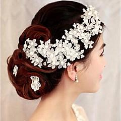 Kristallen Imitatie Parel Helm-Bruiloft Speciale gelegenheden Bloemen 1 Stuk