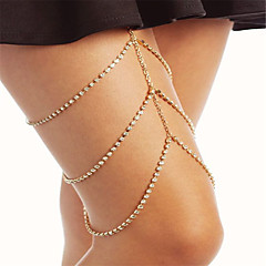 Žene Nakit za tijelo Lančić za nogu Moda Umjetno drago kamenje Geometric Shape Zlato Pink Jewelry Za Party Special Occasion Halloween 1pc